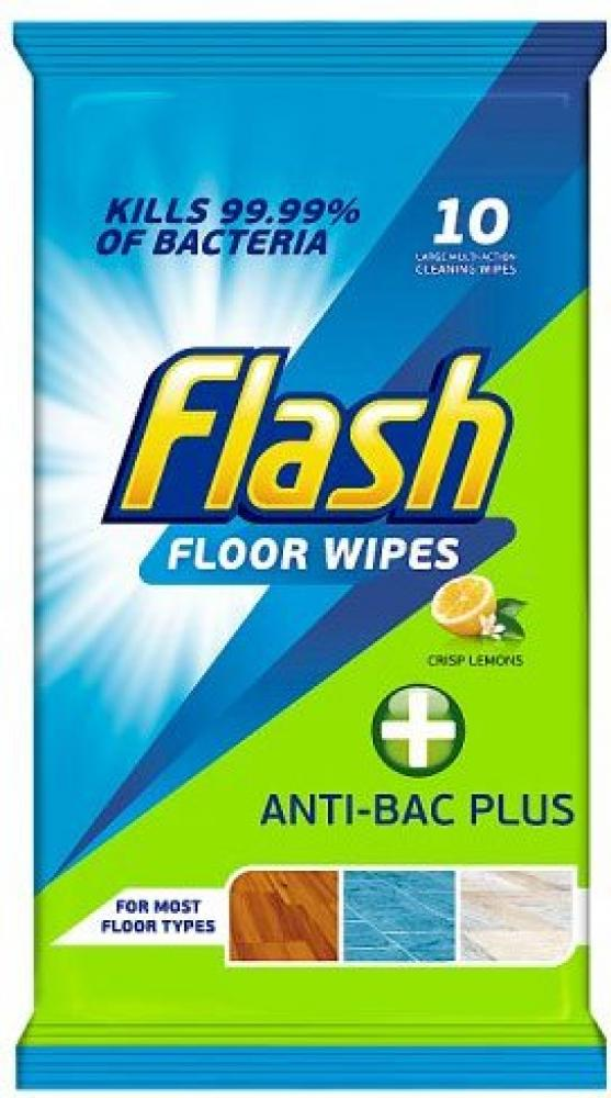 Flash Floor Wipes 10 Pack Crisp Lemons