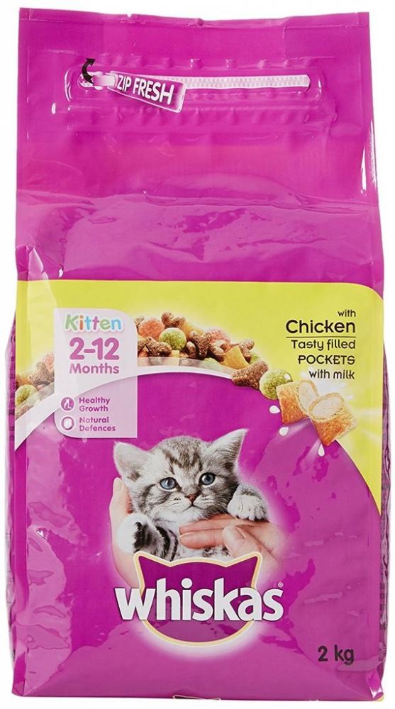 Whiskas 2-12 Months Kitten Complete Dry with Chicken 2kg
