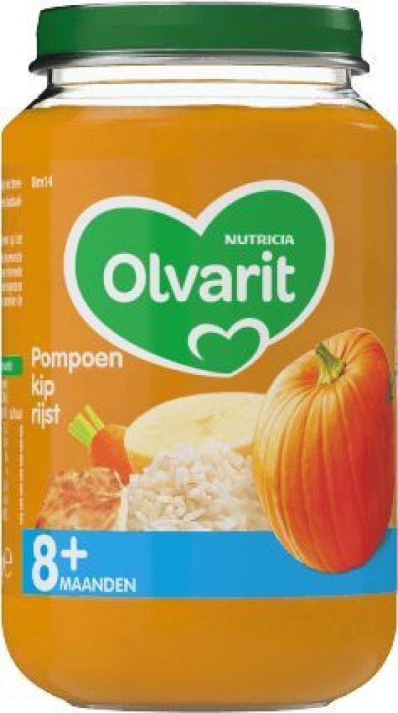 Olvarit Pumpkin Chicken Rice 8Months 200g