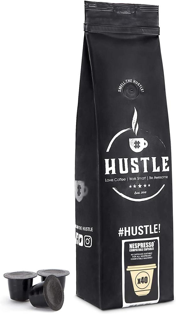 HustleCoffee Nepresso Compatible Coffee Capsules 40 caps