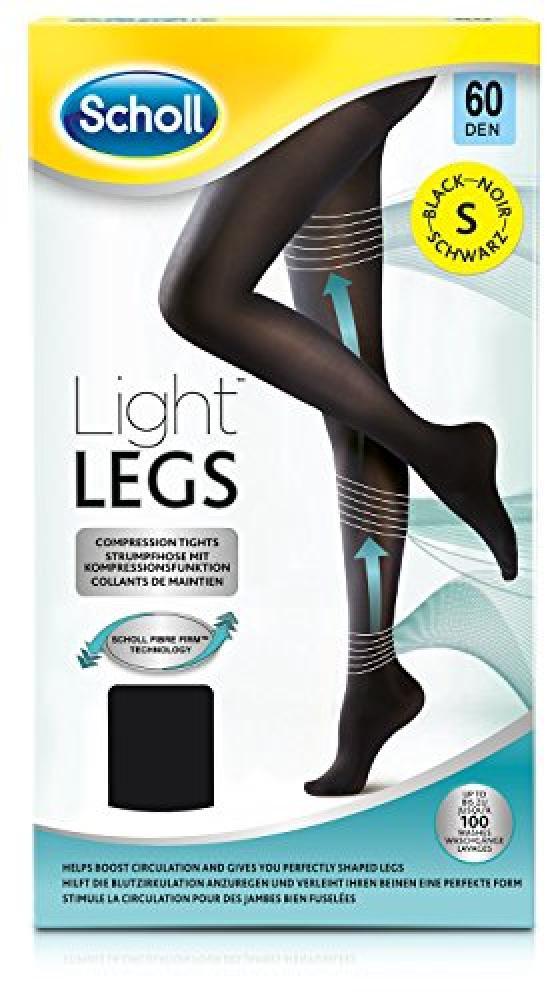 Scholl Light Legs Compression Tights 60 Den - Black Small