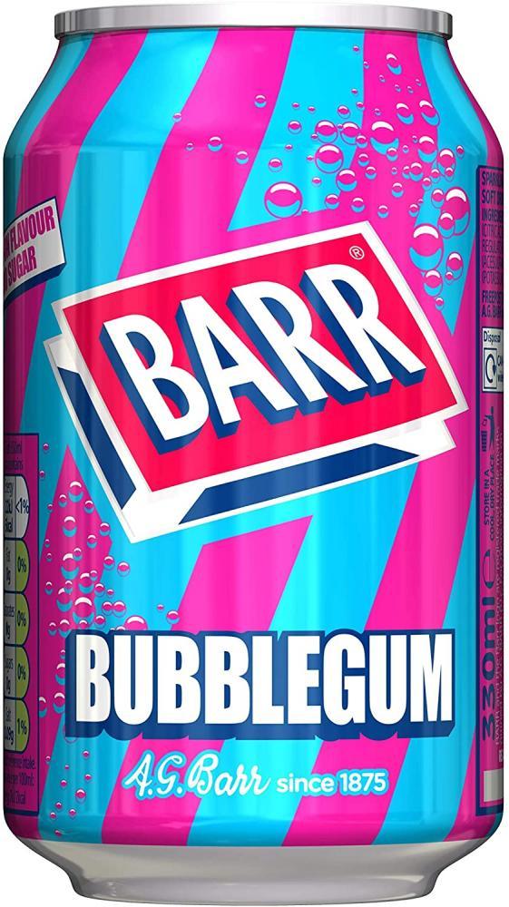 Barr Bubblegum Fizzy Drink Can 330 ml