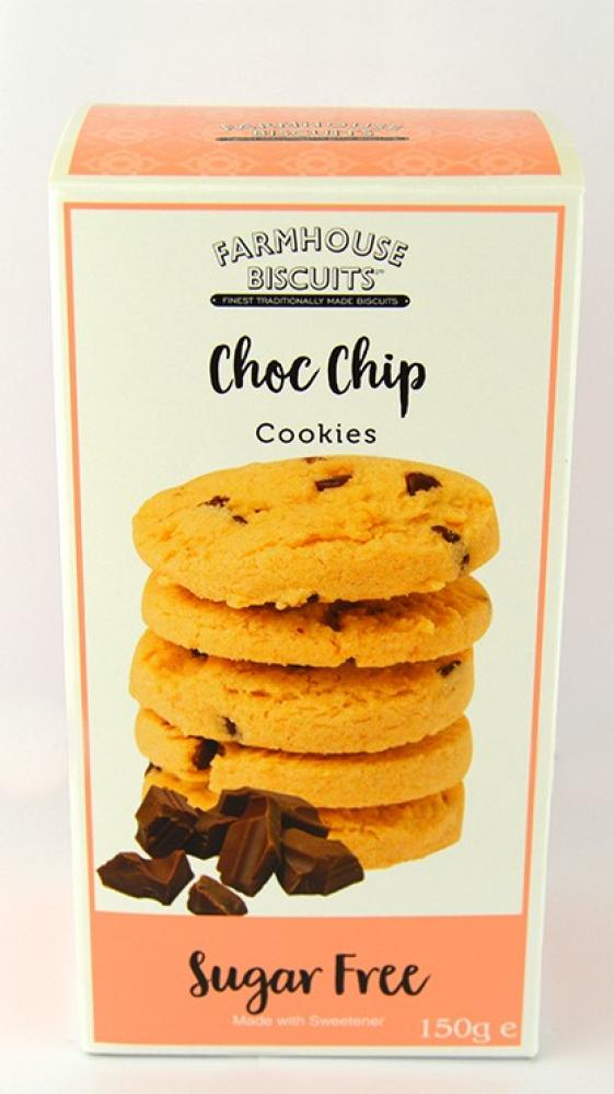 Farmhouse Biscuits Sugar Free Choc Chip Cookies 150g