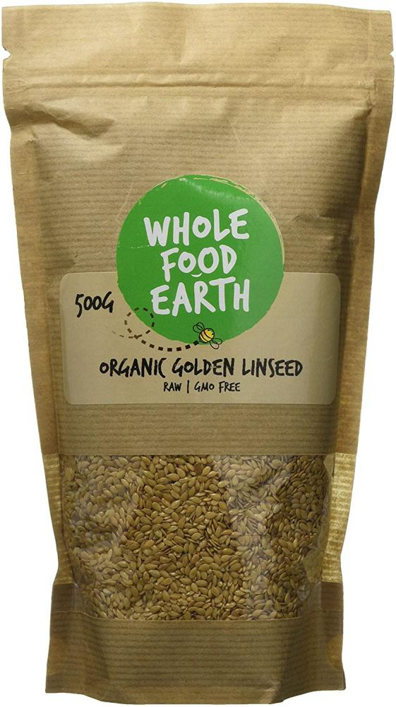 Wholefood Earth Organic Golden Linseed 500g