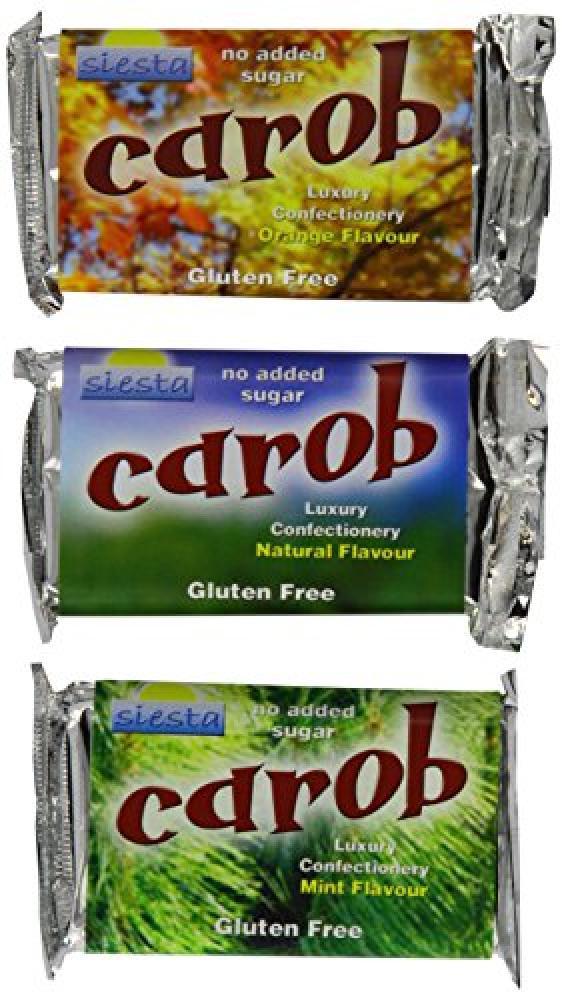 Siesta No Added Sugar Carob Mixed Bars 50 g LUCKY DIP