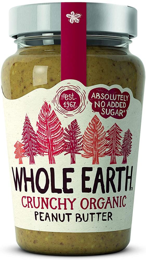 Whole Earth Crunchy Organic Peanut Butter 340 g