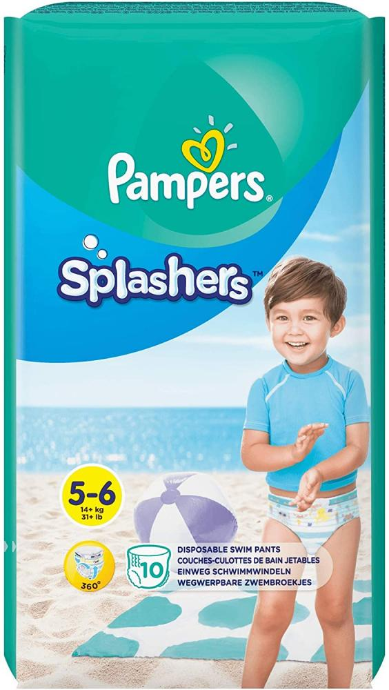 Pampers Splashers Disposable Swim Pants Size 5-6 10 Nappies