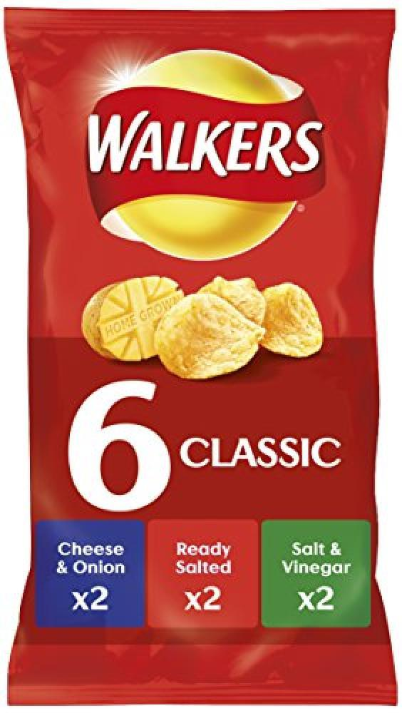 Walkers Classic Variety Crisps 25g x 6