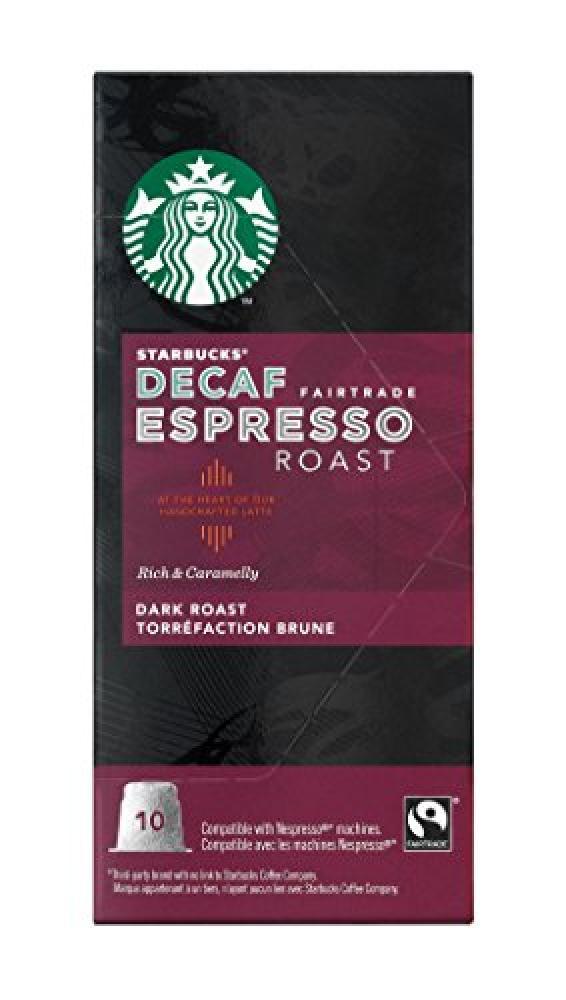 WEEKLY DEAL  Starbucks Decaf Espresso Roast 10 Capsules
