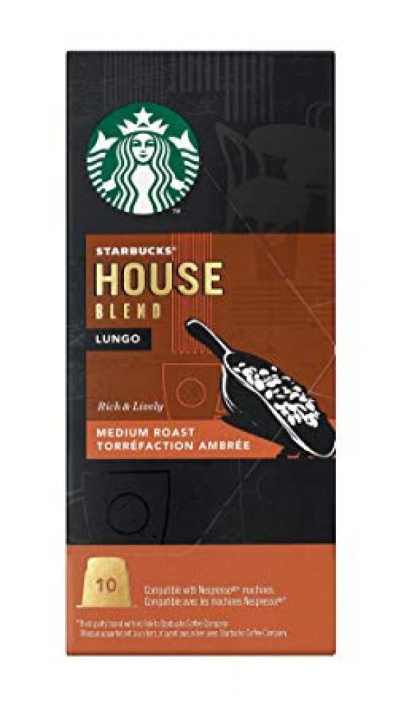 Starbucks House Blend Lungo Medium Roast 10 Coffee Capsules 10 capsules