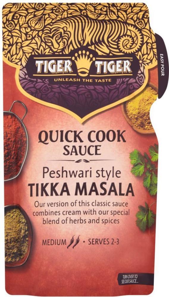 Tiger Tiger Quick Cook Sauce Peshwari Style Tikka Masala 370g