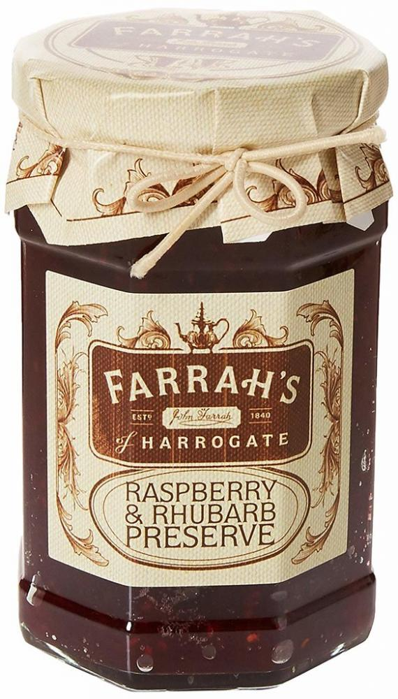 Farrahs Of Harrogate Raspberry and Rhubarb Preserve 340g