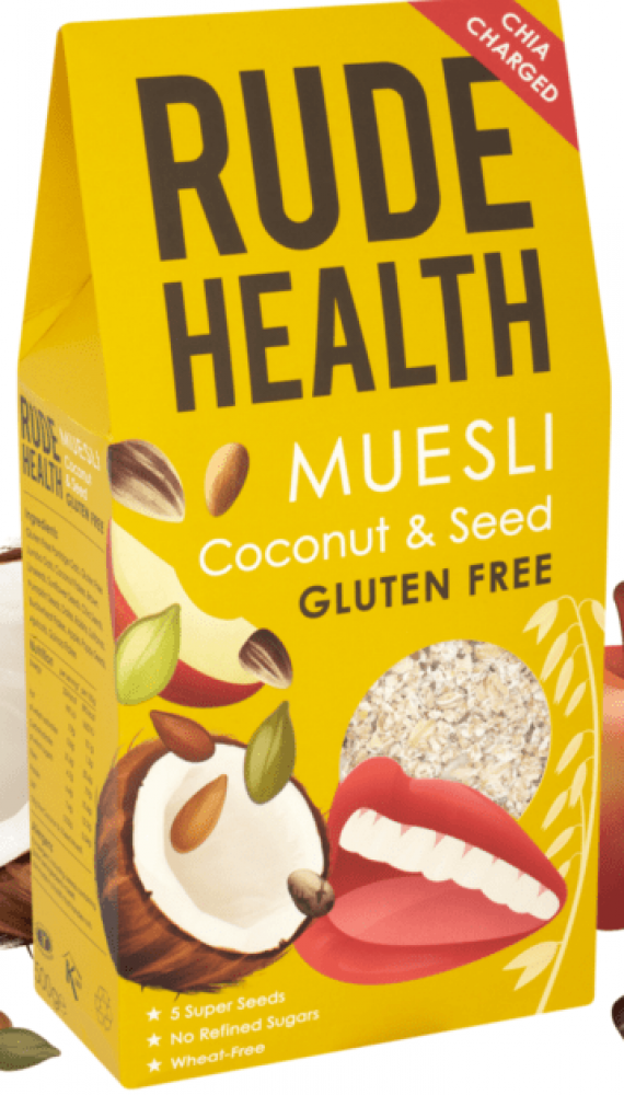 Rude Health Muesli Coconut And Seeds Gluten Free 500g