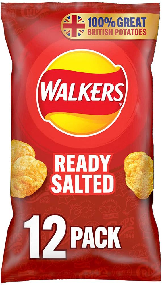 MEGA DEAL  Walkers Ready Salted Multipack Crisps 12x25g