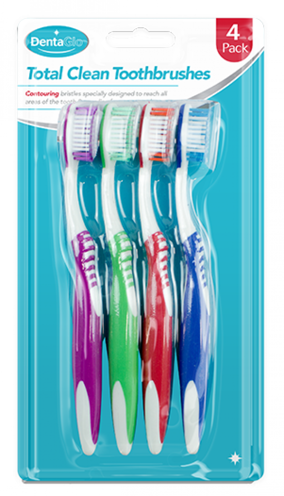 Dentaglo Toothbrushes 4 pack