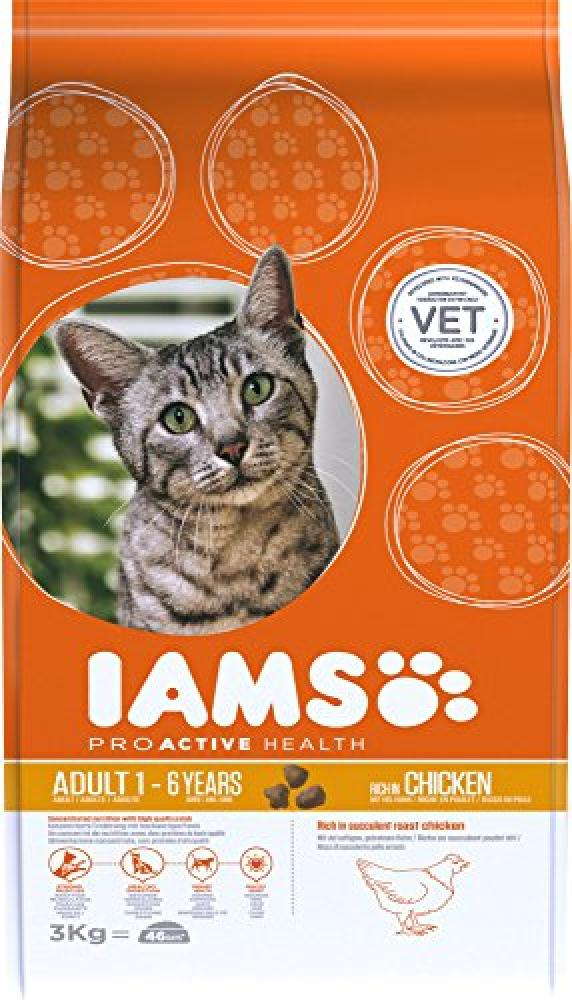 Iams Dry Adult Cat Food with Chicken 3kg