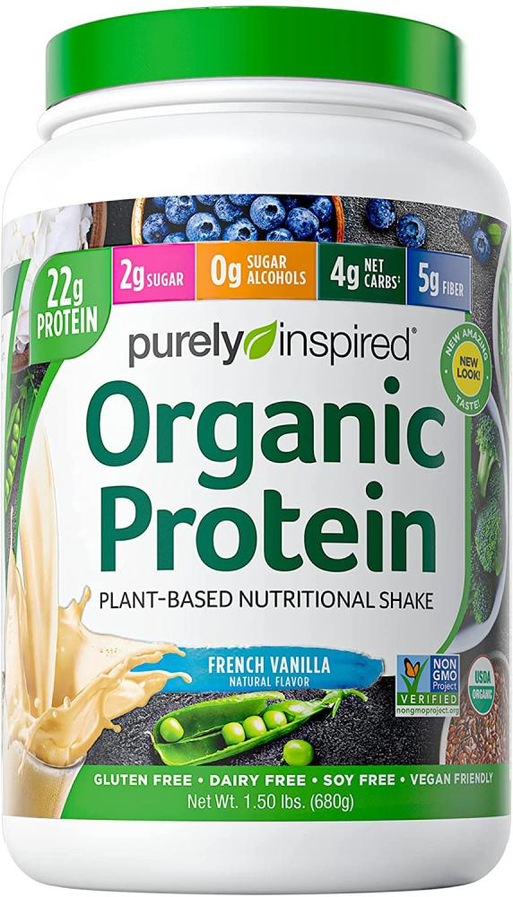 Purely Inspired Organic Protein Plant Based Nutritional Shake French Vanilla 680g