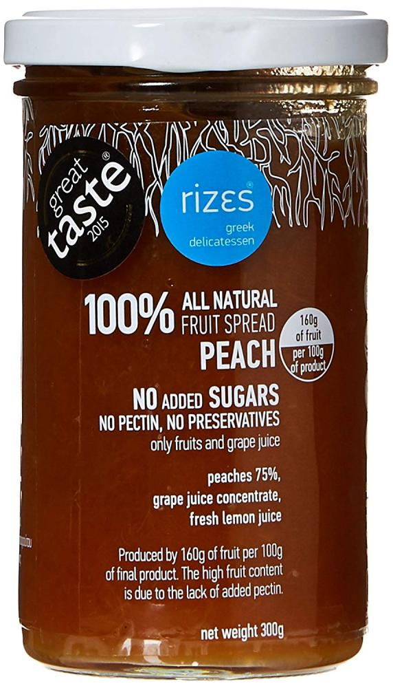 Rizes Greek Delicatessen Fruit Spread Peach 300g