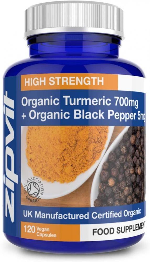 Zipvit Turmeric with Black Pepper 700mg 120 Vegan Capsules