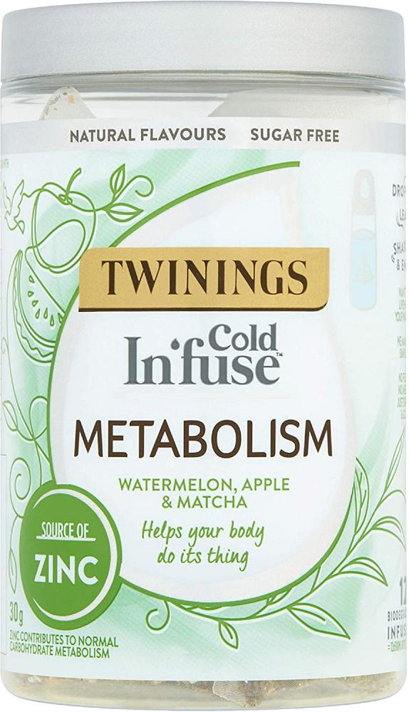 Twinings Cold Infuse MetabolismWatermelonApple and Matcha 12 Infusers