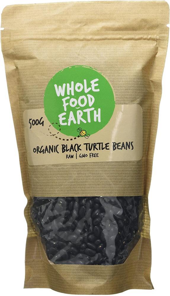 Whole Food Earth Organic Black Turtle Beans 500g