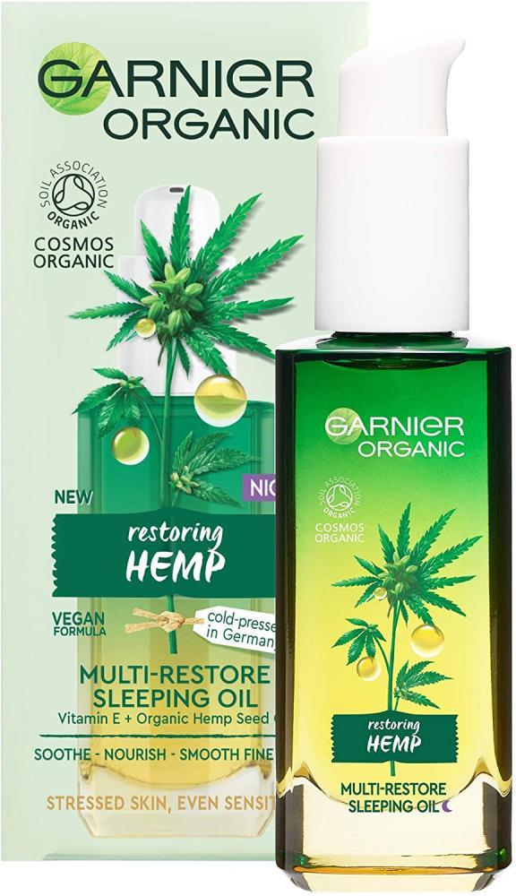 Garnier Organic Hemp Multi-Restore Facial Night Sleeping Oil 30 ml