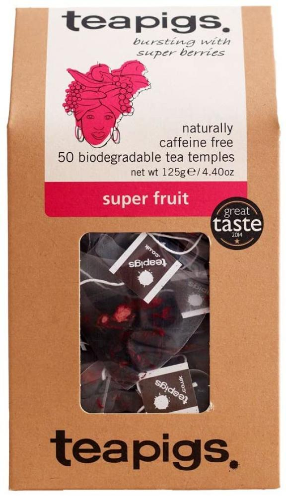 Teapigs Super Fruit Tea 50 Tea Temples