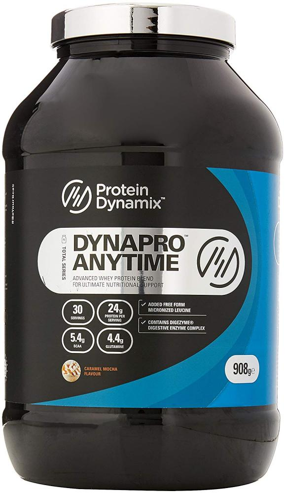 Protein Dynamix Dynapro Anytime 100 Percent Whey Protein Powder Chocolate Brownie Flavour Shake Mix 908 g