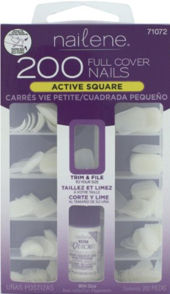 Nailene Nails Full Cover Short Square includes 216 Nails