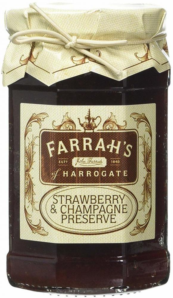 Farrahs Of Harrogate Strawberry and Champagne Preserve 340g