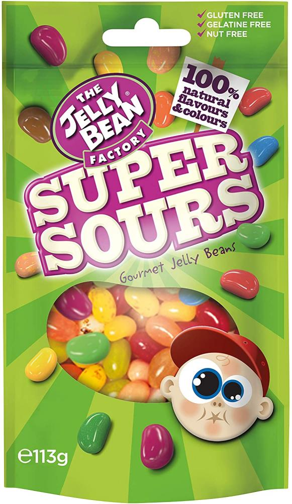 The Jelly Bean Factory Super Sours Jelly Beans 113g