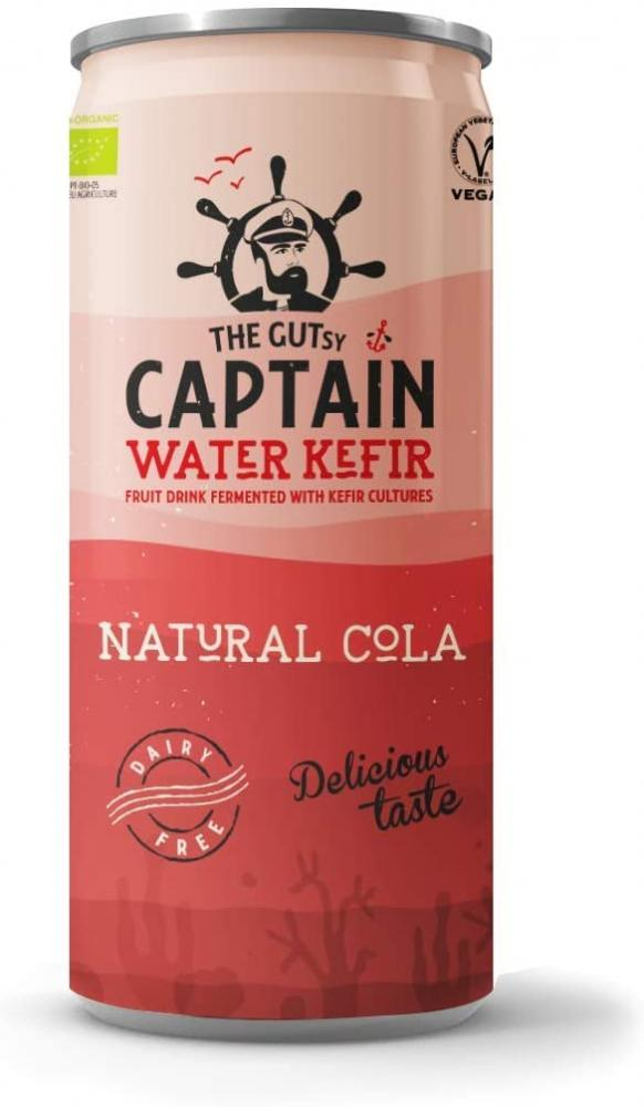 SALE  The Gutsy Captain Water Kefir - Live Cultured Drink with Kefir Cultures Natural Cola 250 ml