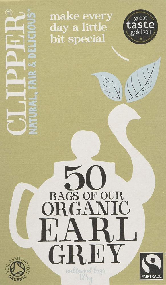MEGA DEAL  Clipper Fairtrade Organic Speciality Earl Grey 50 Teabags 125g