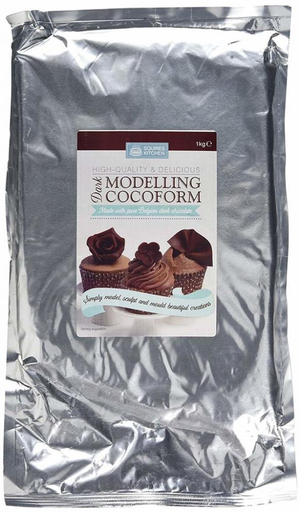 Squires Kitchen Cocoform Dark Chocolate Modelling Paste 1 kg