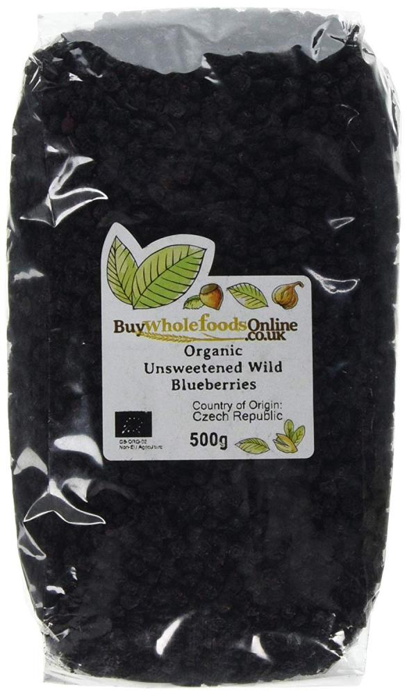 Buy Whole Foods Organic Unsweetened Wild Blueberries 500 g