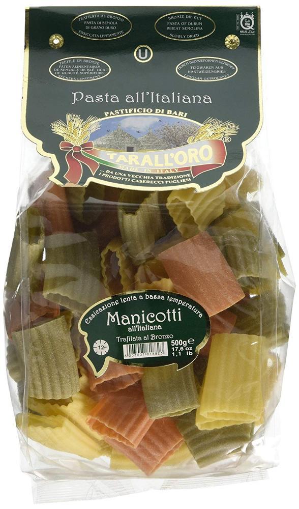 Taralloro Italianate Manicotti Pasta in Bag 500g