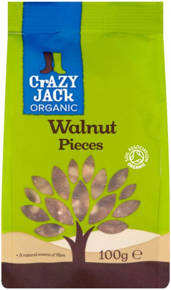 Crazy Jack Organic Walnut Pieces 100g