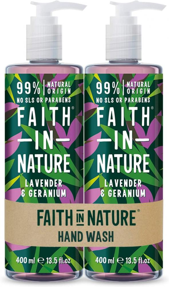 Faith In Nature Natural Lavender and Geranium Hand Wash 400ml
