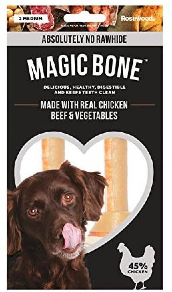 Magic Bone Chicken Beef and Vegetables Dog Treats Medium 140g
