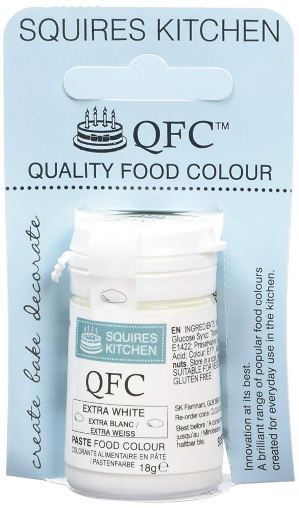 Squires Kitchen Quality Food Colour - Extra White 18g