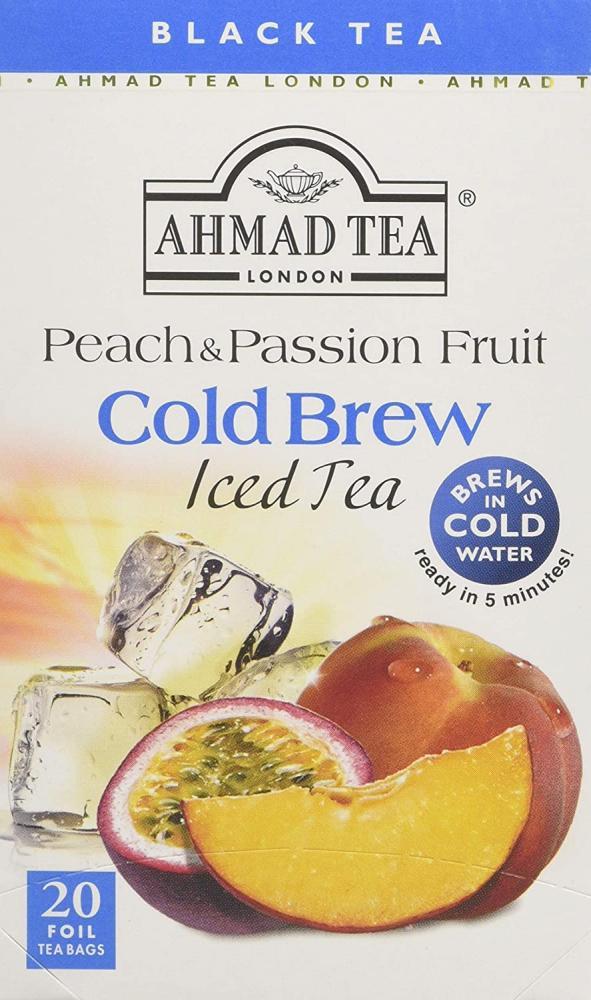 Ahmad Tea Peach and Passion Fruit Cold Brew Iced Tea 20 Teabags