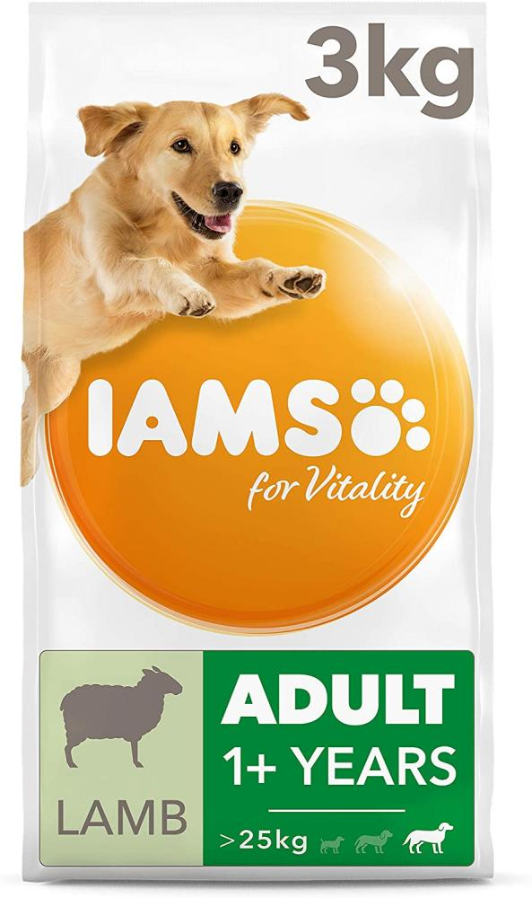 IAMS FOR VITALITY Large Breed Adult Dry Dog Food with Lamb 3 kg