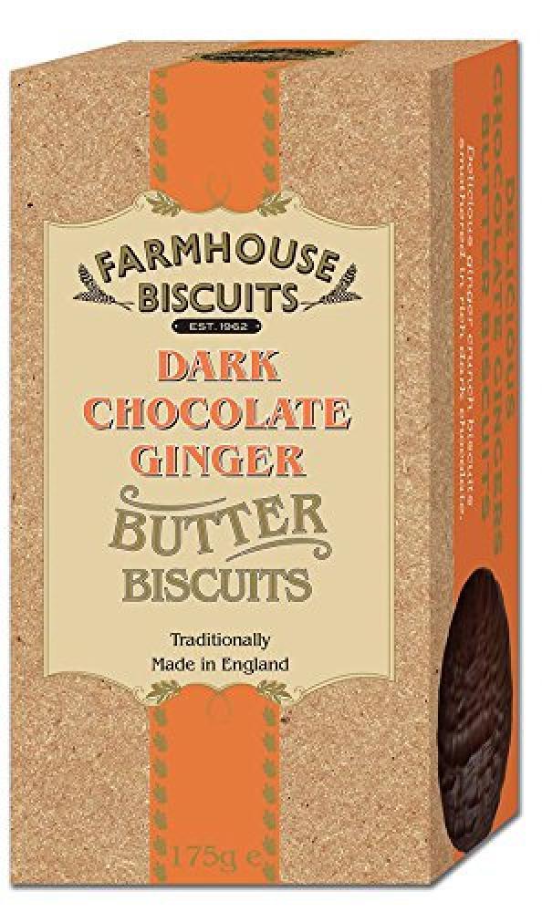 Farmhouse Biscuits Dark Chocolate Ginger 175g