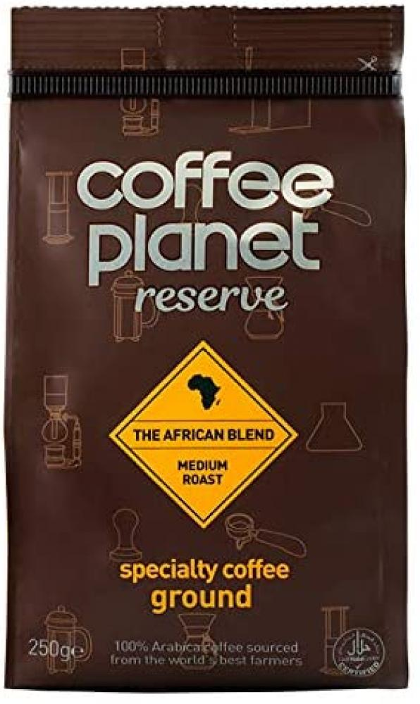 Coffee Planet Reserve The African Blend Ground Coffee Bag 250 g