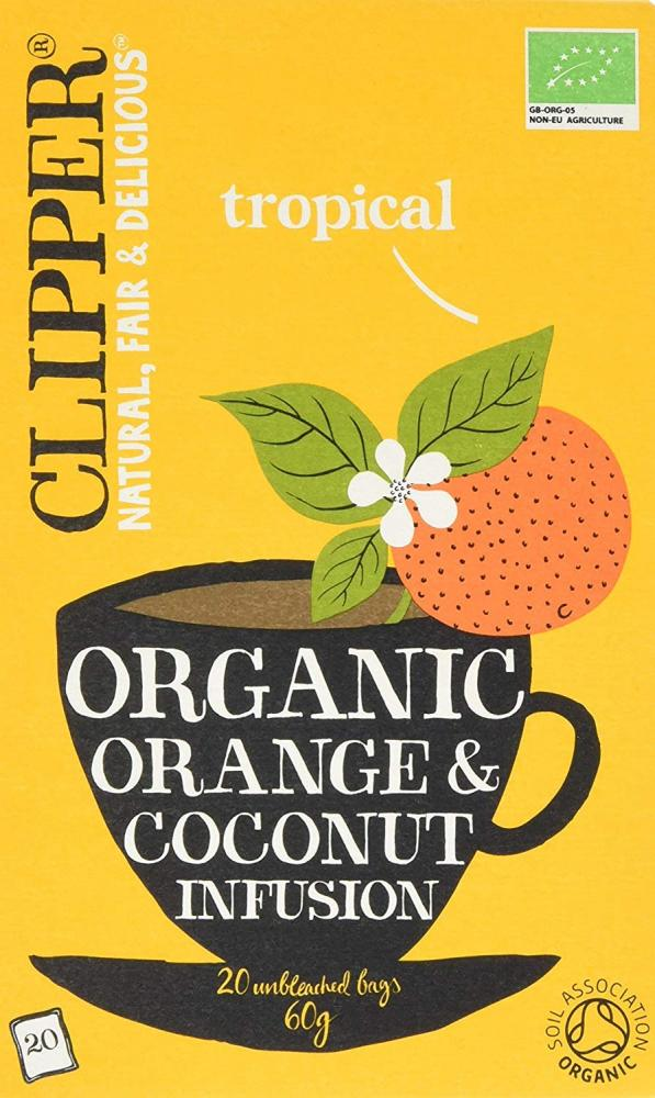 Clipper Organic Orange and Coconut Infusion 20 Teabags 60g