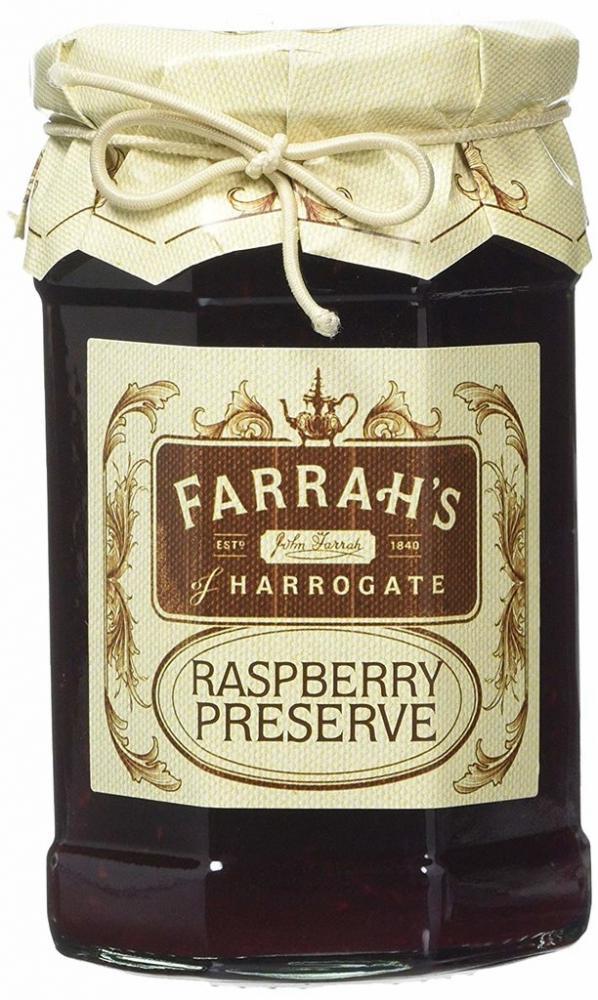 Farrahs Of Harrogate Raspberry Preserve 340g