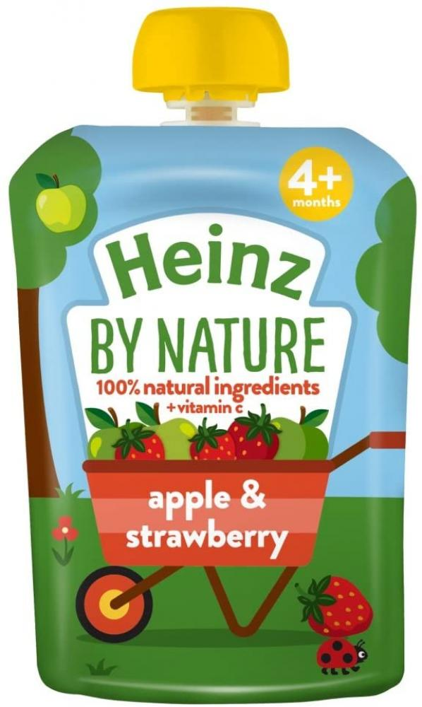 Heinz Apple And Strawberry Puree 4 Plus Months 100 g