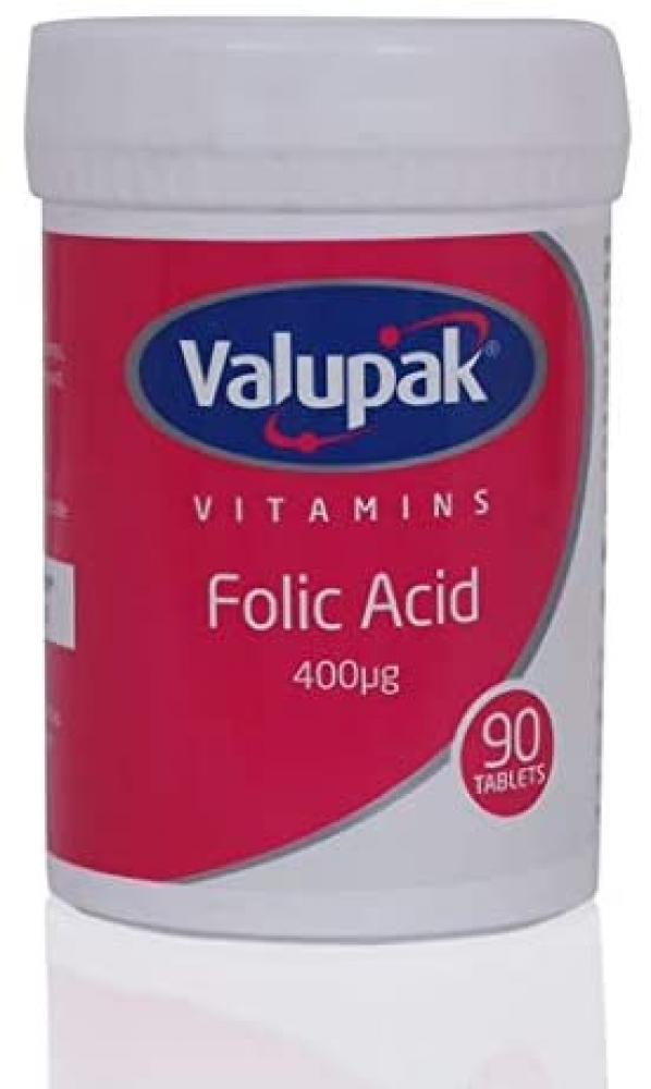 Valupak Vitamins Supplements Folic Acid 90 tablets