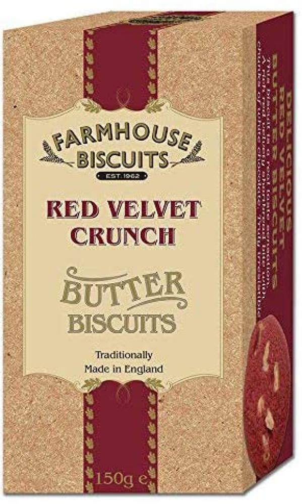 Farmhouse Biscuits Red Velvet Crunch Butter Biscuits 150g