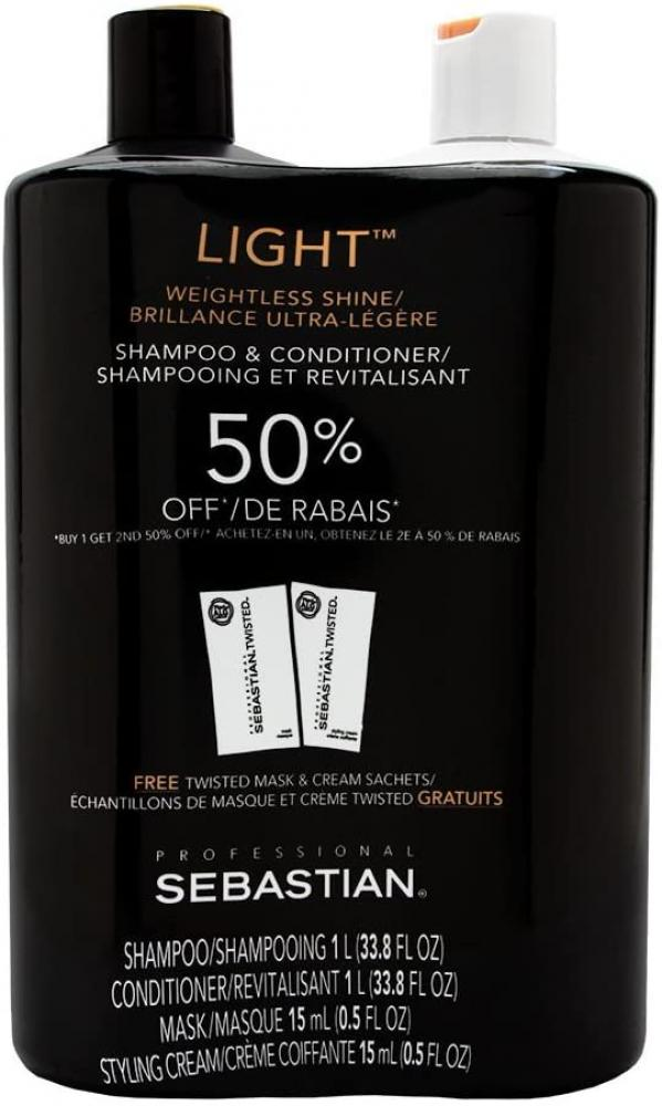 Sebastian Professional Light Shampoo plus Conditioner (Combo Deal) 2 x 950 ml No Box